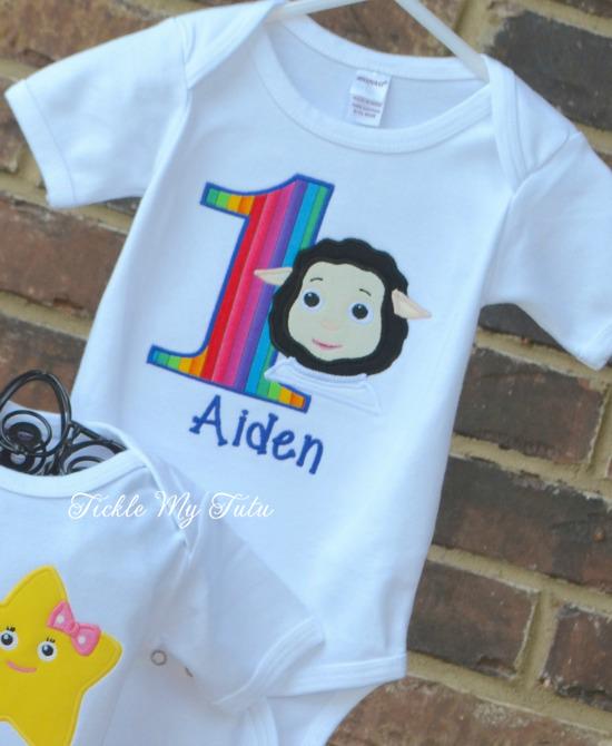 Little Baby Bum Birthday Bodysuit/Shirt Only (Sheep design)