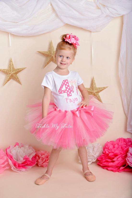 Little Ballerina Birthday Tutu Outfit