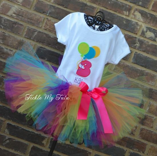 Balloon Themed Birthday Tutu Outfit