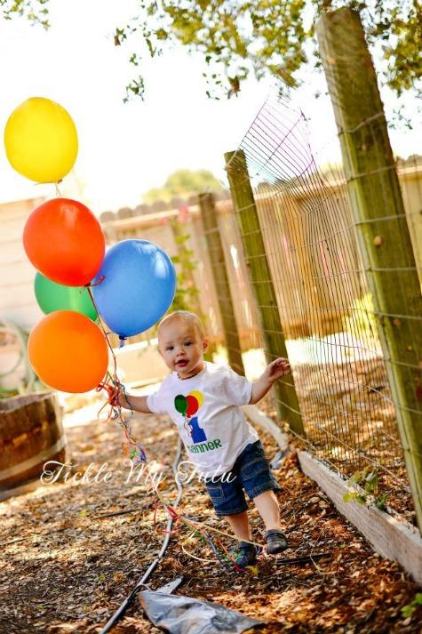 Balloon Themed Birthday Shirt