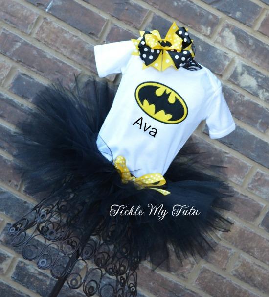 Batgirl Themed Tutu Outfit