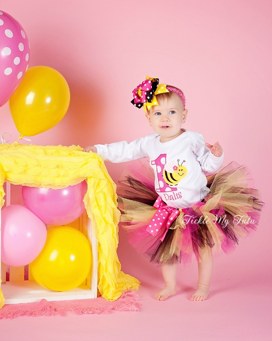 It's My BEE-day Birthday Tutu Outfit (Dark Pink)