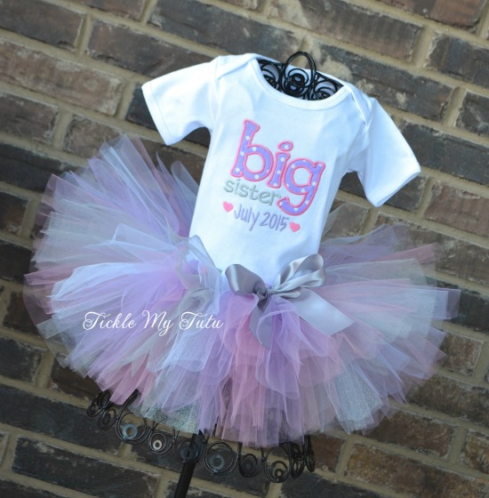 Big Sister To Be Pregnancy Announcement Tutu Outfit