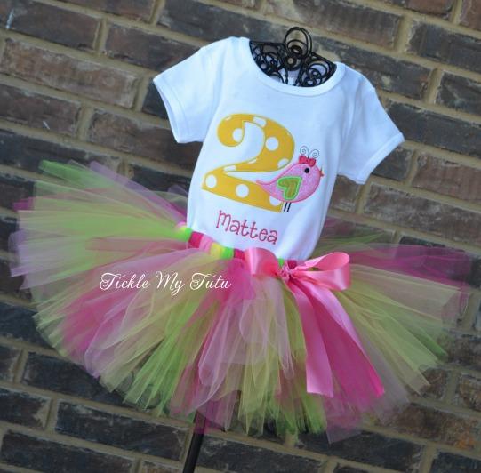 Little Birdie Birthday Tutu Outfit