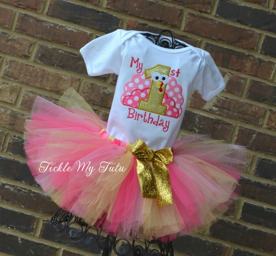 My First Birthday Thanksgiving Turkey Tutu Outfit (Design 4)