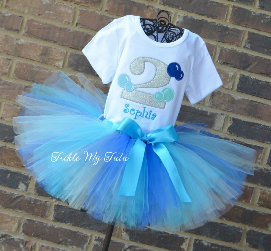Bubble Bash Birthday Tutu Outfit (Sophia)