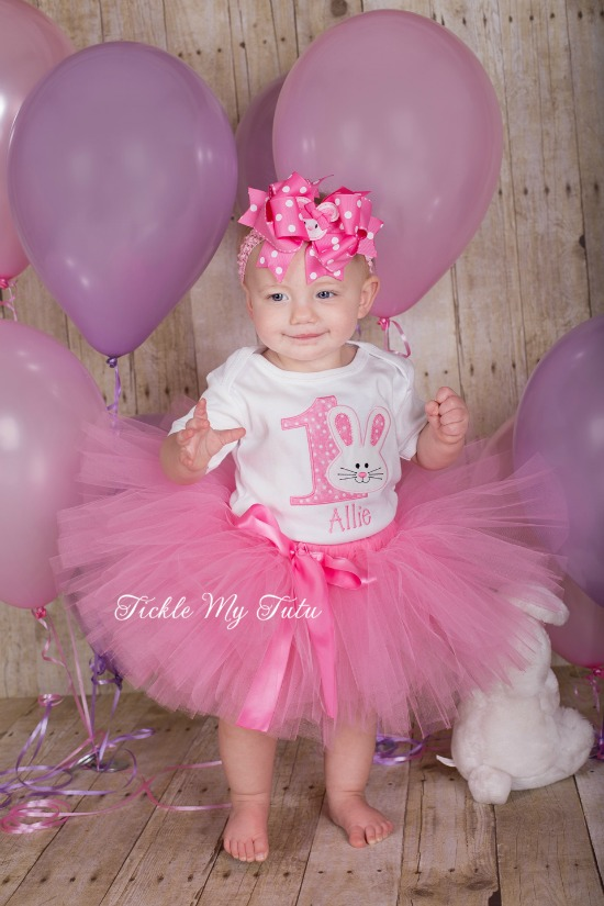 Some BUNNY Is ONE Birthday Tutu Outfit (pink)