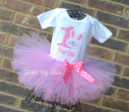 Some BUNNY Is ONE Birthday Tutu Outfit (Pink and Lilac)