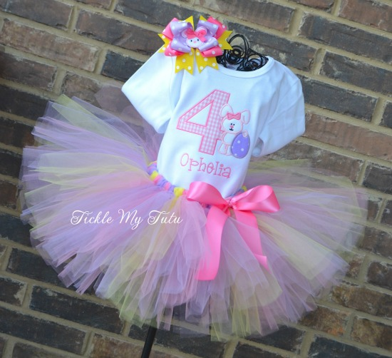 Easter Bunny Birthday Tutu Outfit