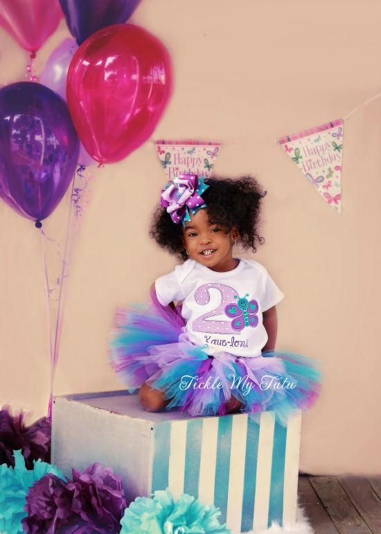 "Butterfly Themed ""Kaye-loni"" Birthday Tutu Outfit"