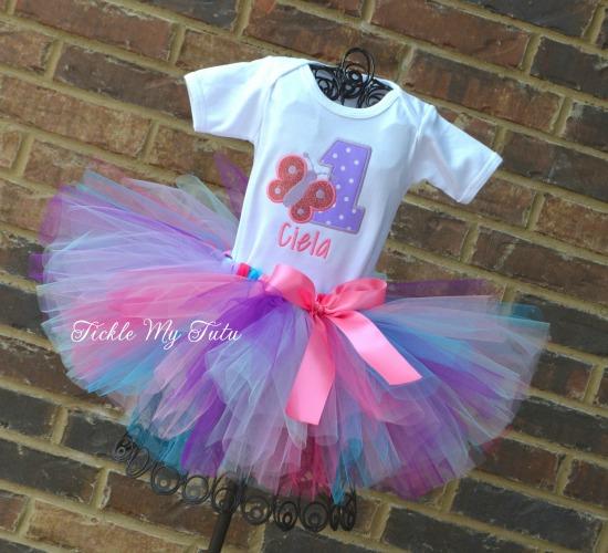 "Butterfly Themed ""Ciela"" Birthday Tutu Outfit"