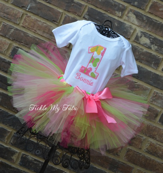 Butterfly Birthday Number (butterfly fabric) Tutu Outfit