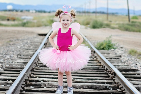 Pink Butterfly THREE PIECE Tutu Costume