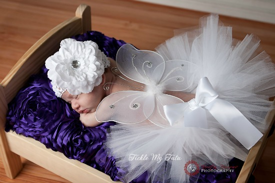 Butterfly Costume Photography Prop (white)