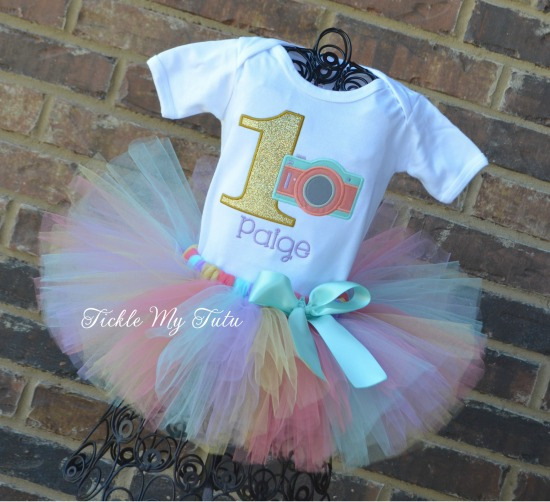 Camera Themed Birthday Tutu Outfit