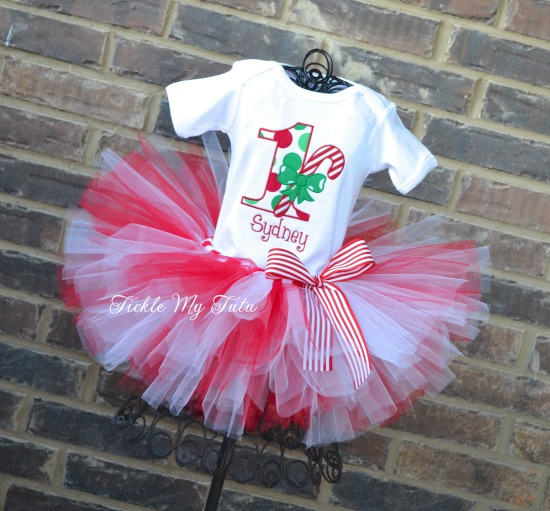 Candy Cane Birthday Tutu Outfit