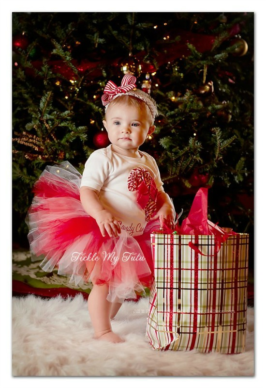 Shabby Chic Candy Cane Cutie Christmas Tutu Outfit