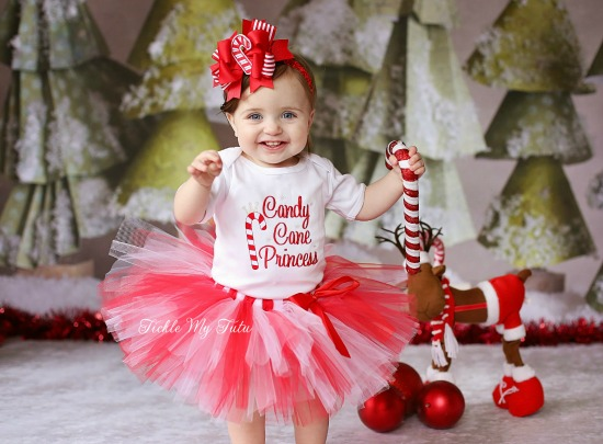 Candy Cane Princess Christmas Tutu Outfit