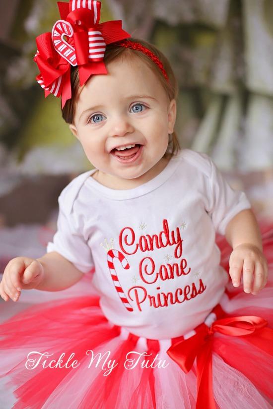 Candy cane princess christmas tutu outfit for Princess cane
