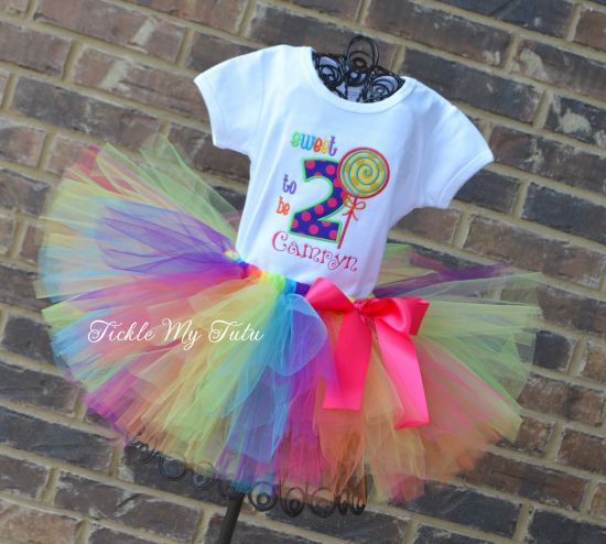 "Sweet Shoppe Candyland ""Camryn"" Birthday Tutu Outfit"