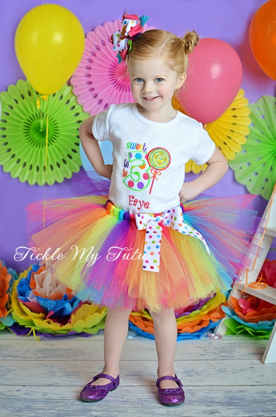 Sweet Shoppe Polka Dot Candyland Birthday Tutu Outfit