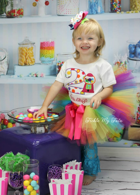 Sweet Shoppe Gumball Themed Birthday Tutu Outfit
