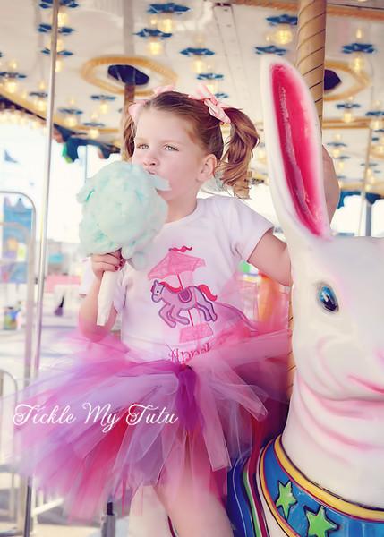"Carousel Pony ""Annabeth"" Birthday Tutu Outfit"