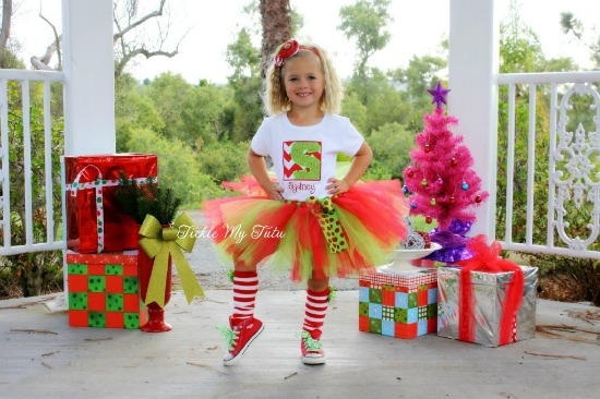 Chevron Candy Cane Christmas Tutu Outfit
