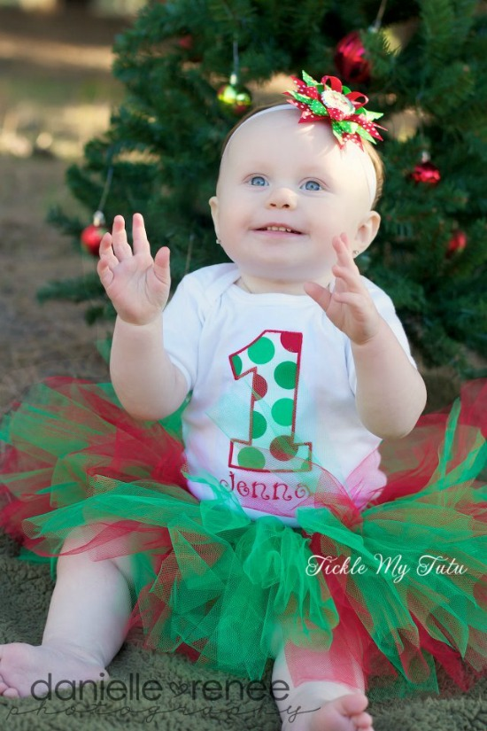 Christmas Number Birthday Tutu Outfit