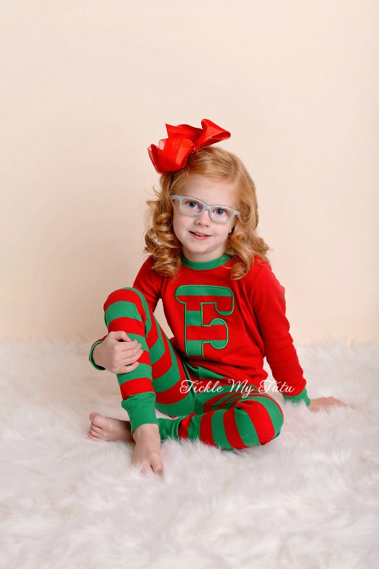 Christmas Pajamas with Initial