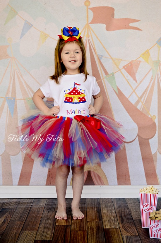 Under the Big Top Circus Tent Birthday Tutu Outfit