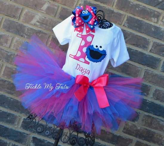 Cookie Monster Birthday Tutu Outfit