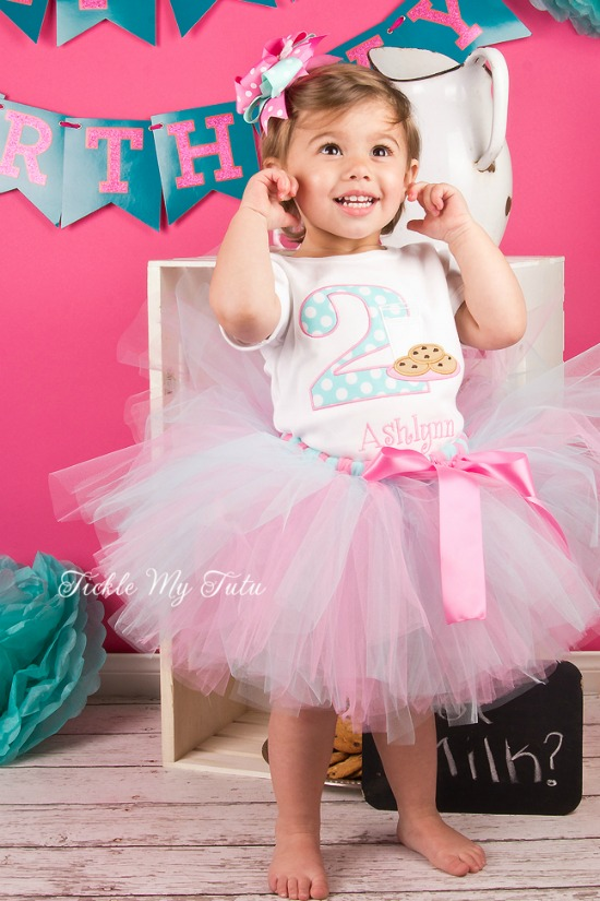 Cookies with Milk Birthday Tutu Outfit