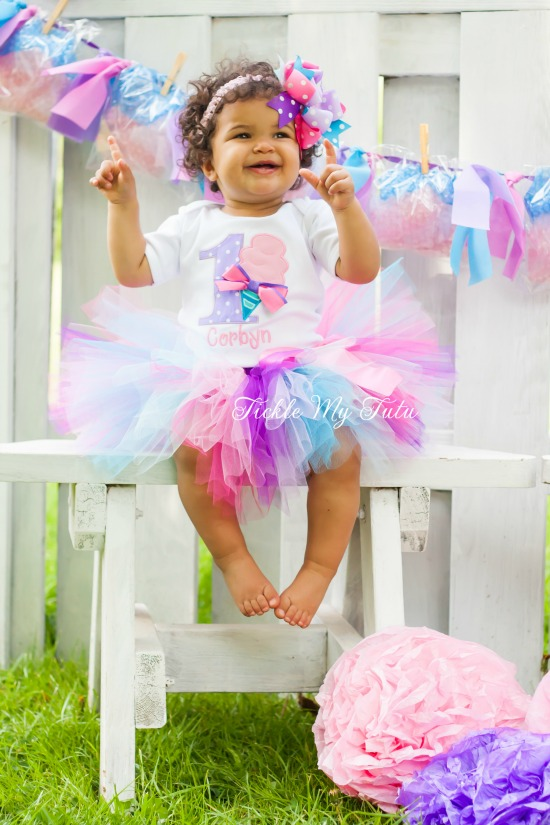 Cotton Candy Cutie Birthday Tutu Outfit