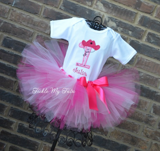 Cowgirl Cutie (Pink) Birthday Tutu Outfit