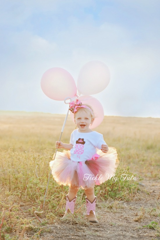 Cowgirl Princess Crown Birthday Tutu Outfit