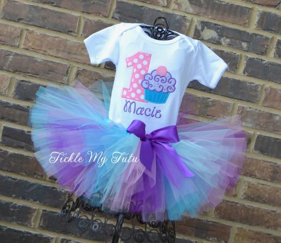 "Cupcake Swirl ""Macie"" Birthday Tutu Outfit"
