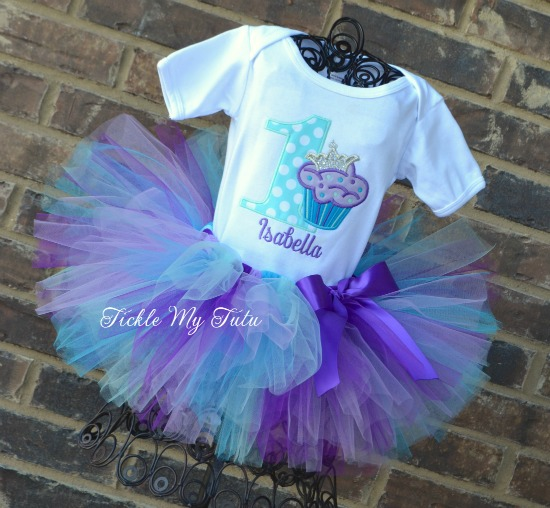 "Cupcake Princess ""Isabella"" Birthday Tutu Outfit"