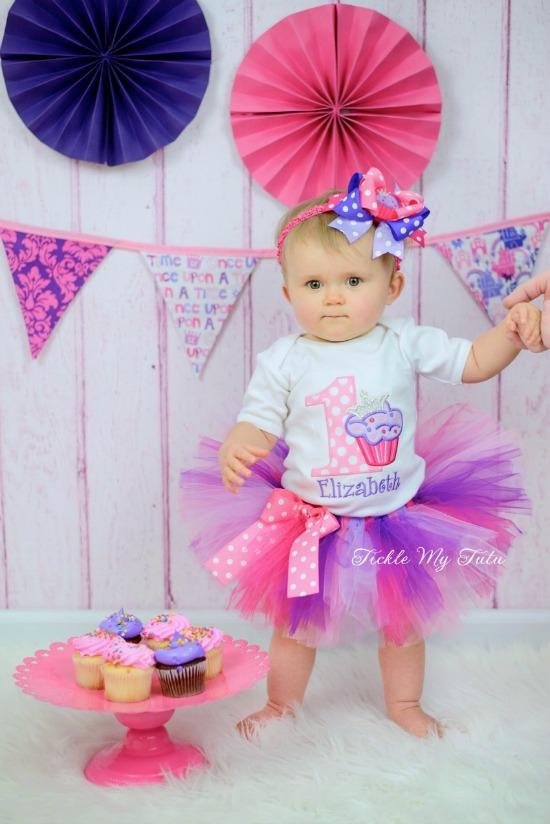 "Cupcake Princess ""Elizabeth"" Birthday Tutu Outfit"