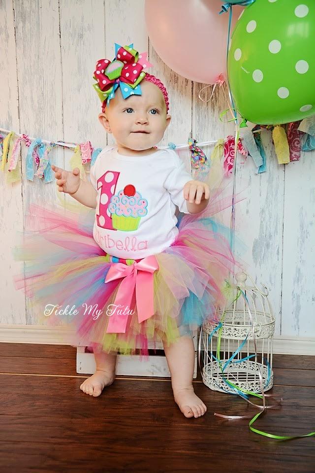 "Cupcake Swirl ""Aribella"" Birthday Tutu Outfit"
