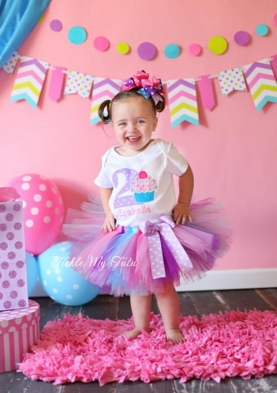 """Cupcake Swirl """"Zyabella"""" Birthday Tutu Outfit"""