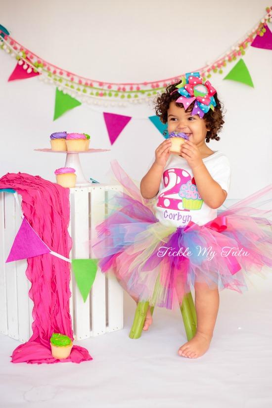 "Cupcake Swirl ""Corbyn"" Birthday Tutu Outfit"