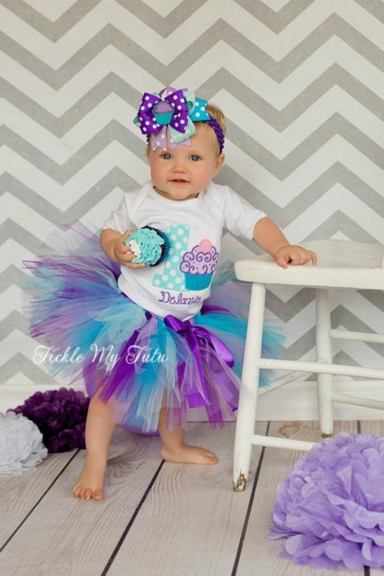 "Cupcake Swirl ""Delanie"" Birthday Tutu Outfit"