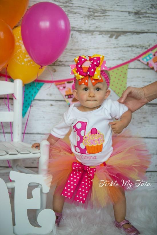 "Cupcake Swirl ""Emma"" Birthday Tutu Outfit"