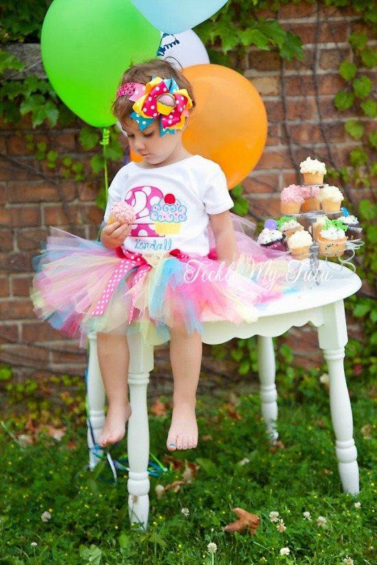 "Cupcake Swirl ""Kendall"" Birthday Tutu Outfit"