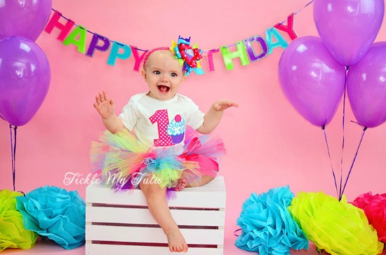 "Cupcake Swirl ""Sutton"" Birthday Tutu Outfit"