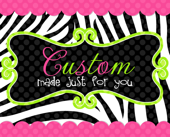 Custom Order for AMY C.