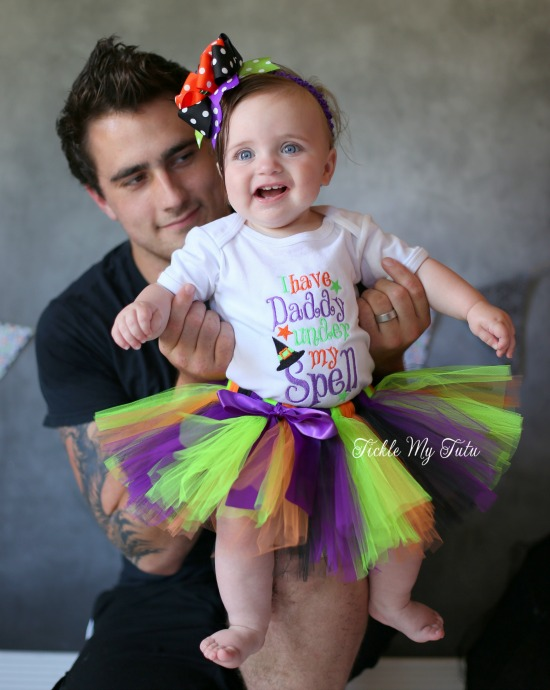 I Have Daddy Under My Spell Halloween Tutu Outfit