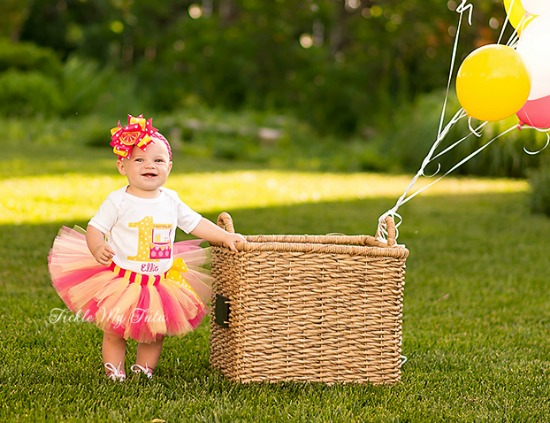 Dark Pink Lemonade Stand Birthday Tutu Outfit