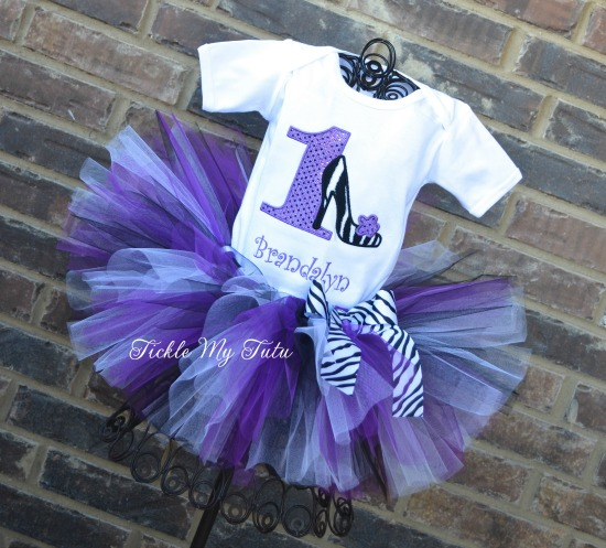 Little Diva High Heel Birthday Tutu Outfit